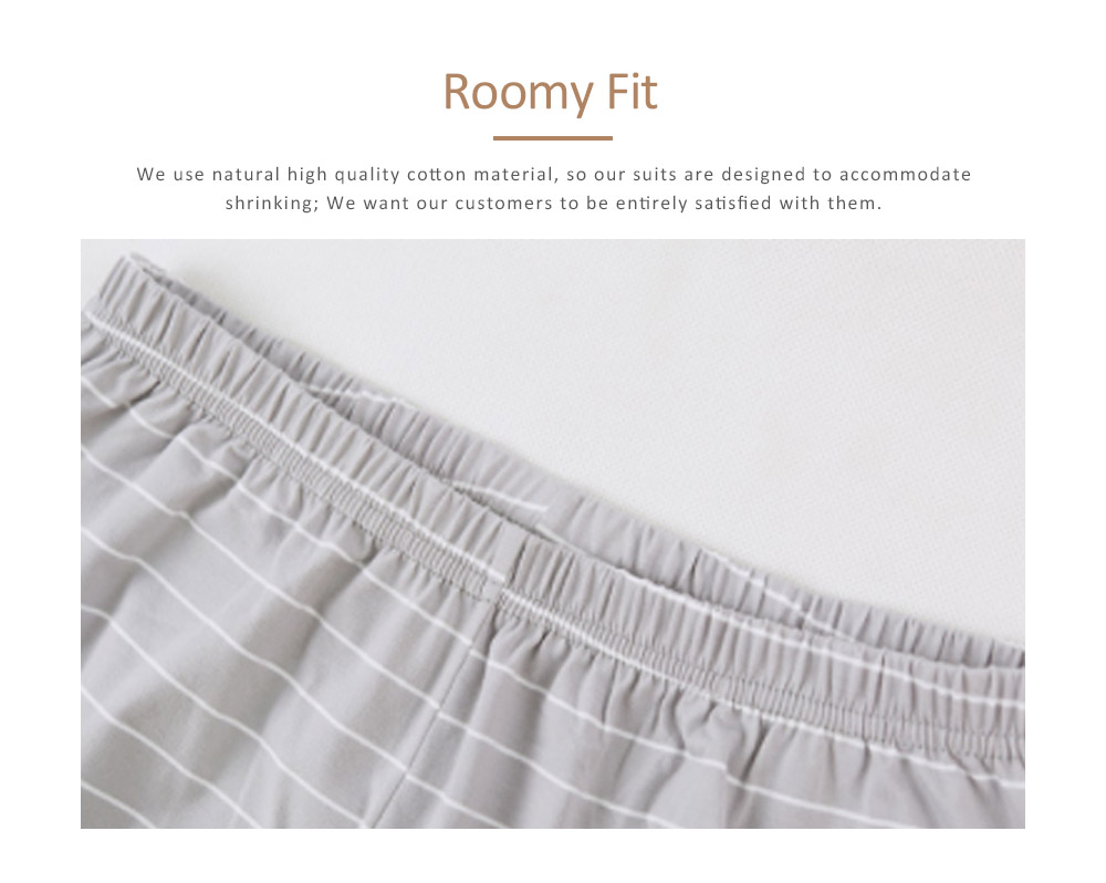 Men's Long-sleeved Casual Knit Pajama Suit with Round-neck Design, Breathable & Soft Household Clothes for Spring Autumn 6