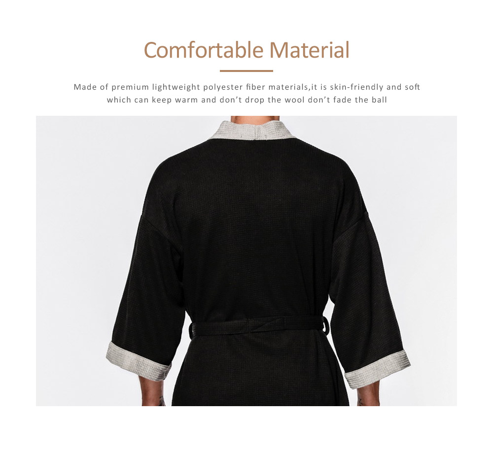 Men All-cotton Skin-friendly Night Gown, Bathrobe, Sweat Sauna Towel for Beauty Salon and Spa Hotel 1