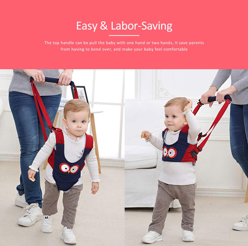 Handheld Baby Walker for Toddler, Breathable Basket Baby Walking Belt with Detachable Crotch for Infant 5