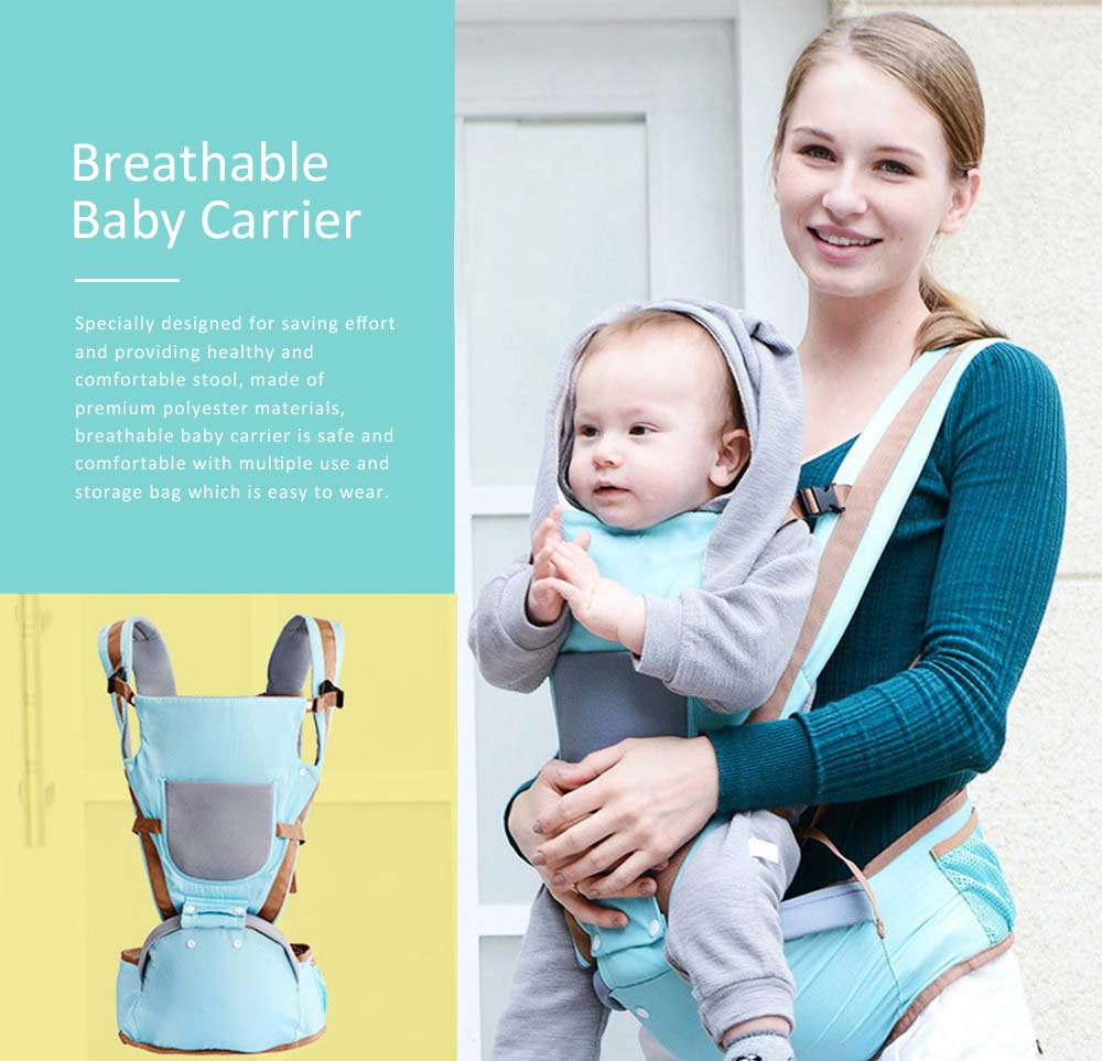 Baby Carriers Front And Back Newborn, Breathable Multifunctional Baby lab with 3D breathable Mesh Cloth and Large Waist Stool for Baby 0