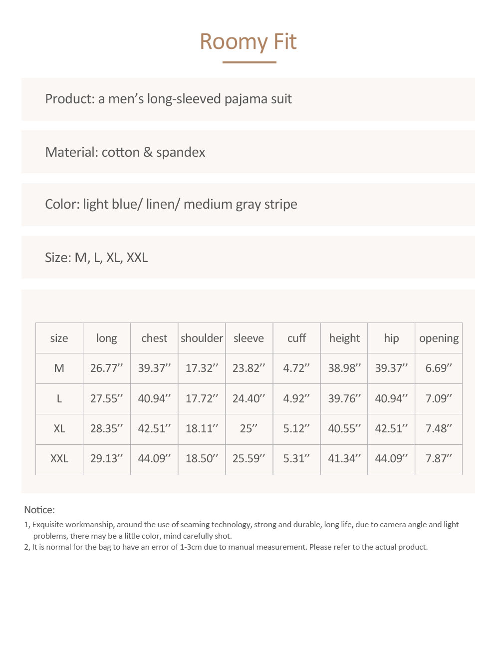 Mens Sleeping Pajamas Suit, Long-sleeved Casual Knit Pajama Suit with V-neck Design for Spring and Autumn 7