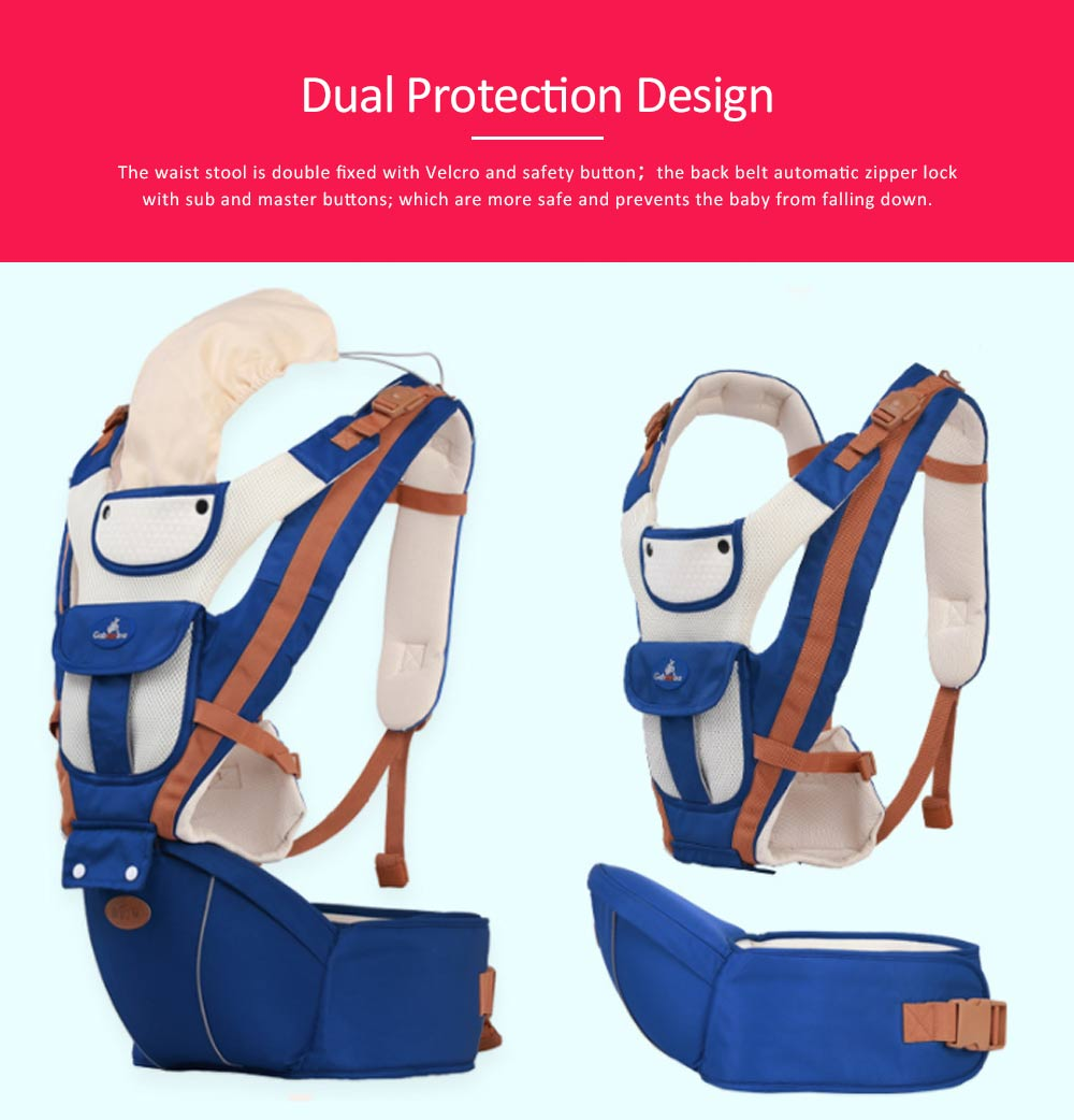 Breathable Baby Carrier, Durable Baby Lab with Multiple Functions and Storage Bag for Four Seasons General. 6