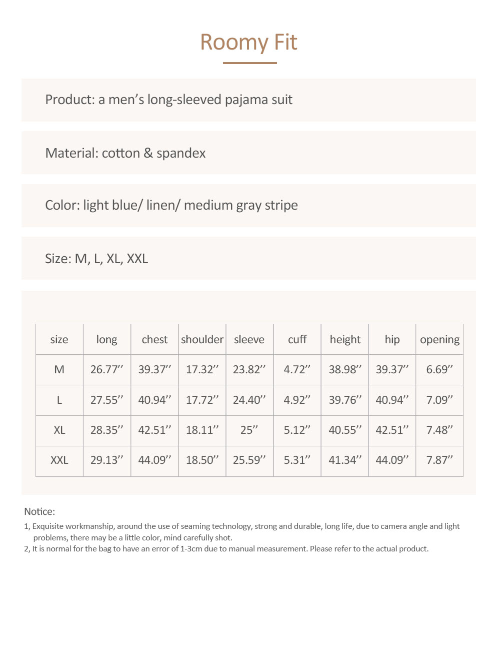 Men's Long-sleeved Casual Knit Pajama Suit with Round-neck Design, Breathable & Soft Household Clothes for Spring Autumn 7