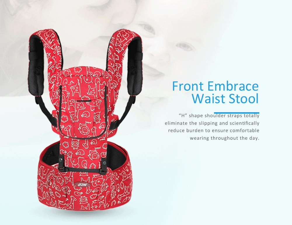 Front Embrace Waist Stool, Multifunctional Baby Carrier with M-Type for Four Seasons General, Breathable and Detachable Strap 0