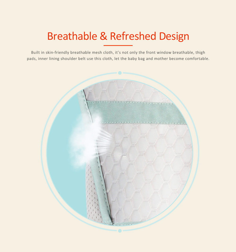 Breathable & Soft Baby Carrier with All-in-one Chew Towel, Multiple Functional Baby Lab for Newborn, Infant Toddler in Summer 1