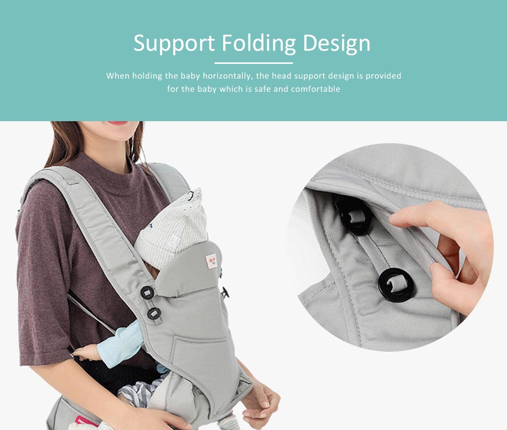 Baby Waist Stool Front Embrace Type, Baby Carriers Adjustable Shoulders Embrace Babies Waist Stool 4