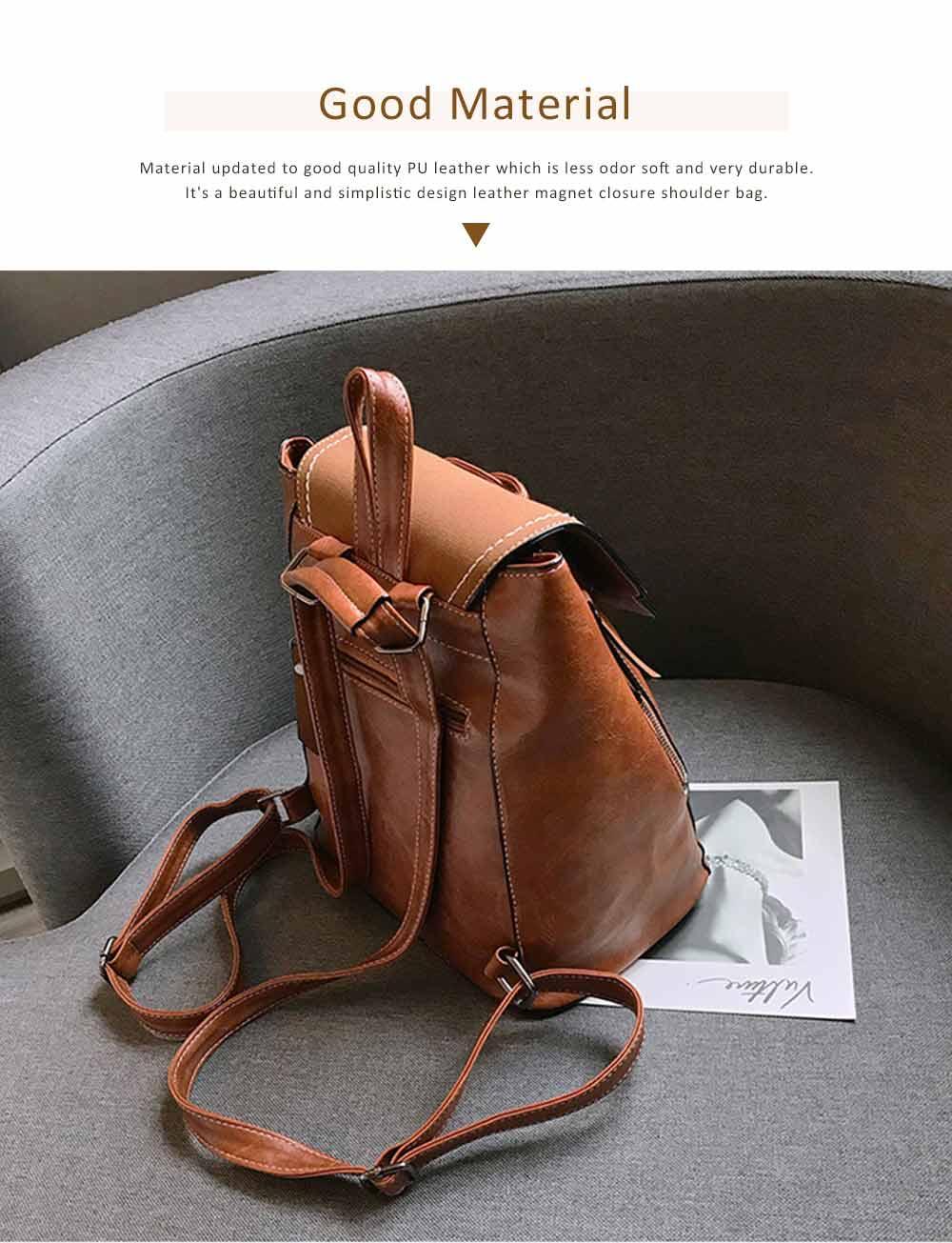 College School Bag Gifts for Women & Girl Backpack Vintage Casual Tassels PU Leather Shoulder Bag 1