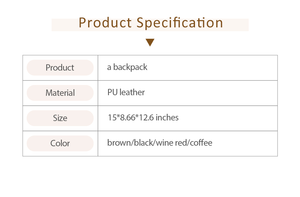 Flip PU Leather Backpack Rucksack Bag Fashion Accessories Large Capacity Handbags College School Bag 6