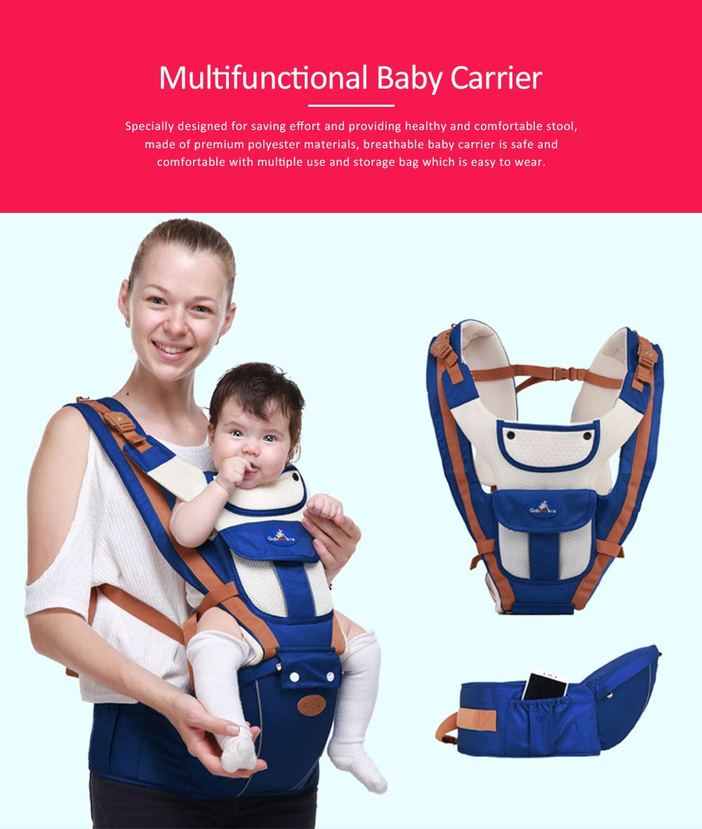 Breathable Baby Carrier, Durable Baby Lab with Multiple Functions and Storage Bag for Four Seasons General. 0