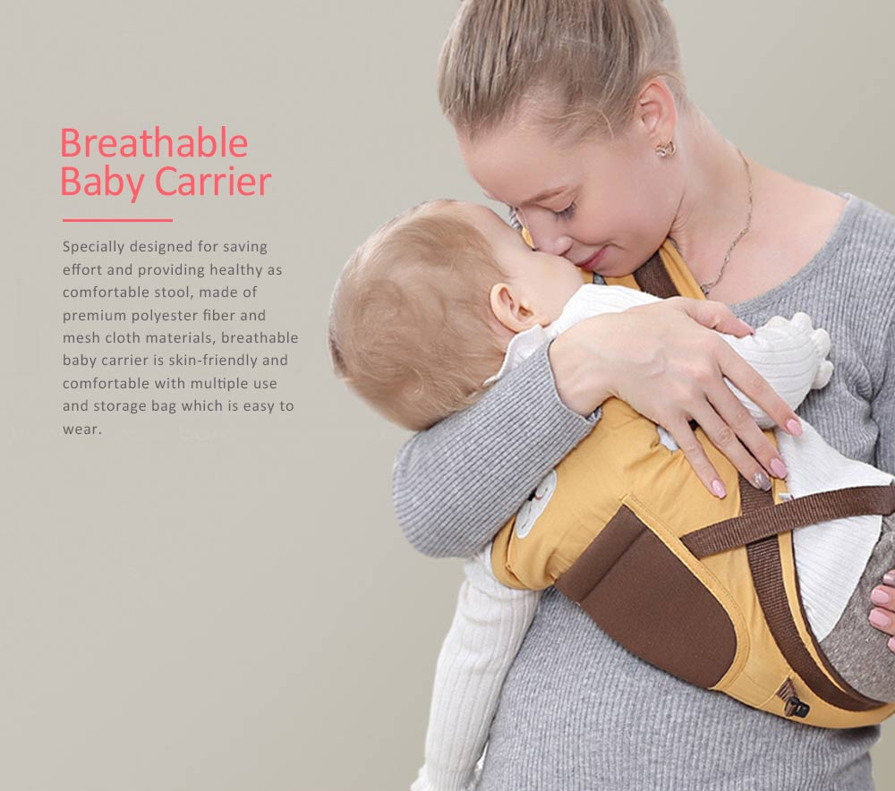 Soft Breathable Baby Carrier with Cartoon Animals Design, Multiple Functional Baby Lab for Newborn, Infant Toddler 0