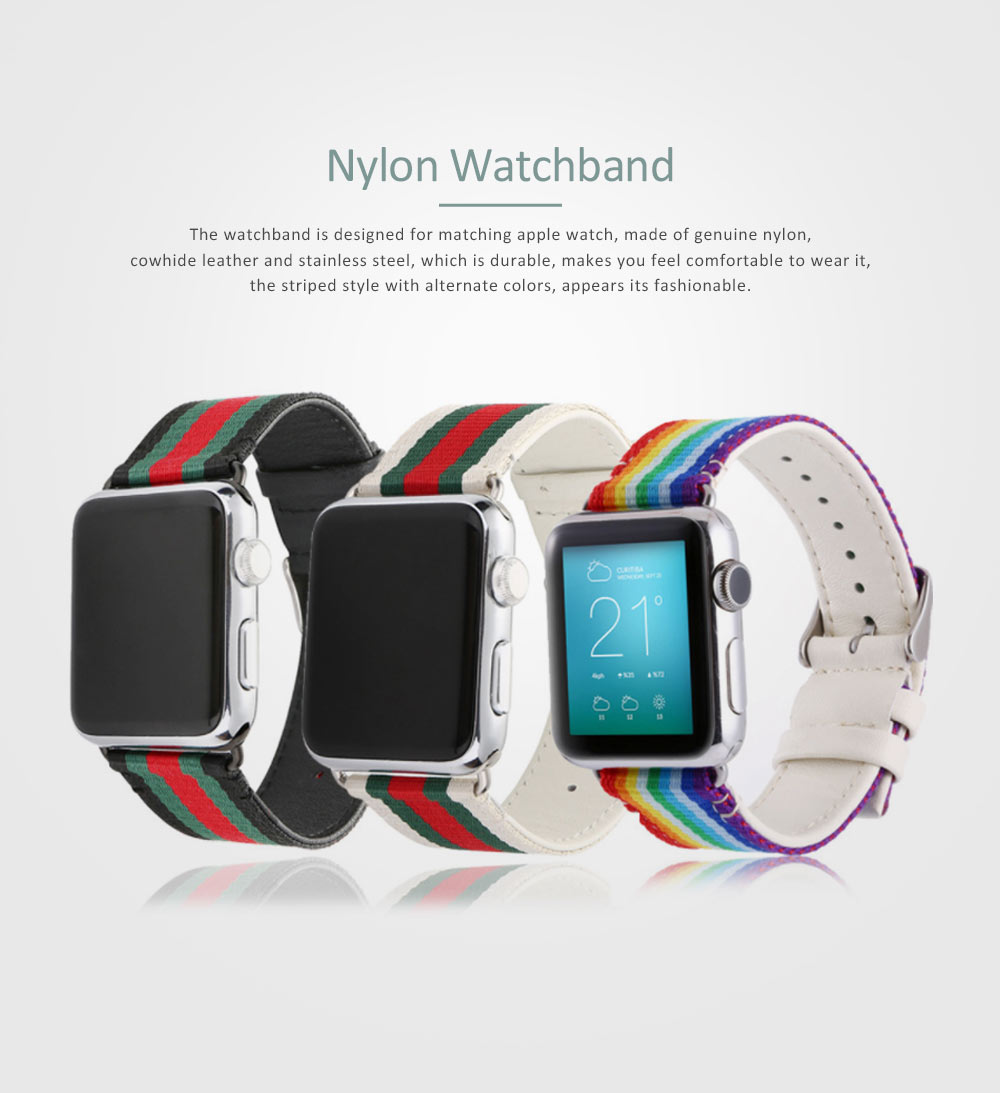 Watchband Genuine Nylon Strap for Apple Watch Wrist Belt Casual Band 0