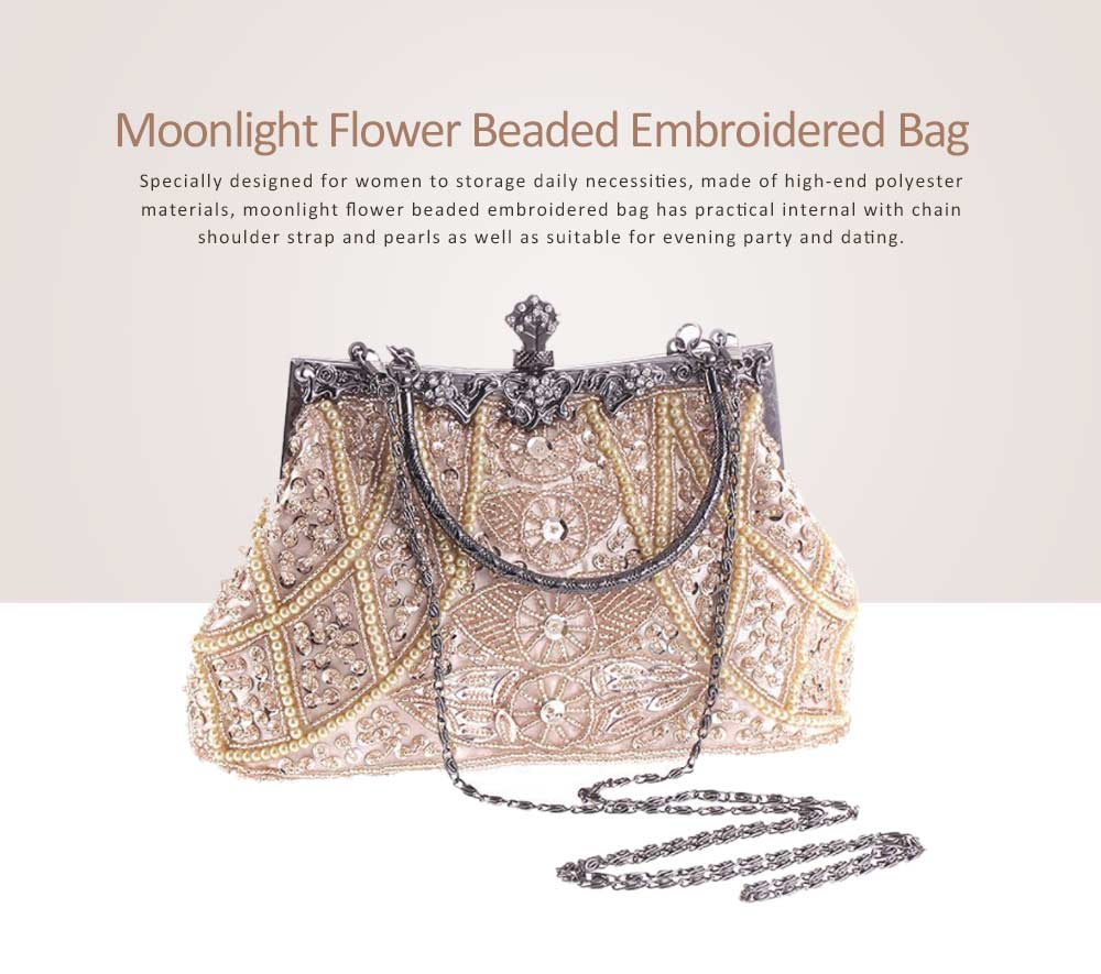 Moonlight Flower Beaded Embroidered Bag with Classic Cheongsam, Evening Bag For the Bride, Bridesmaid 6