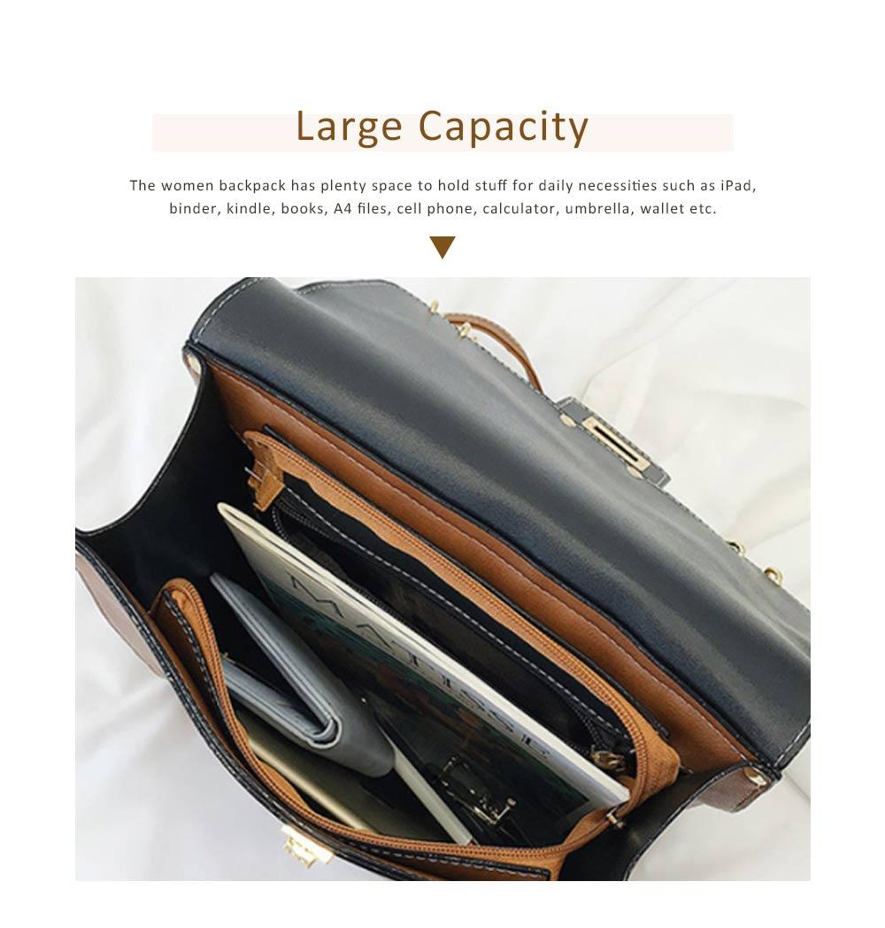 Tassels Handbags College School Bag Large Capacity Backpack Vintage Casual Flap PU Leather Shoulder Bag 3