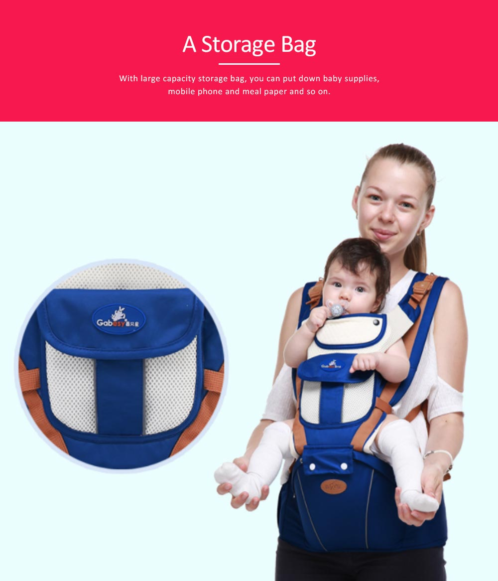 Breathable Baby Carrier, Durable Baby Lab with Multiple Functions and Storage Bag for Four Seasons General. 1