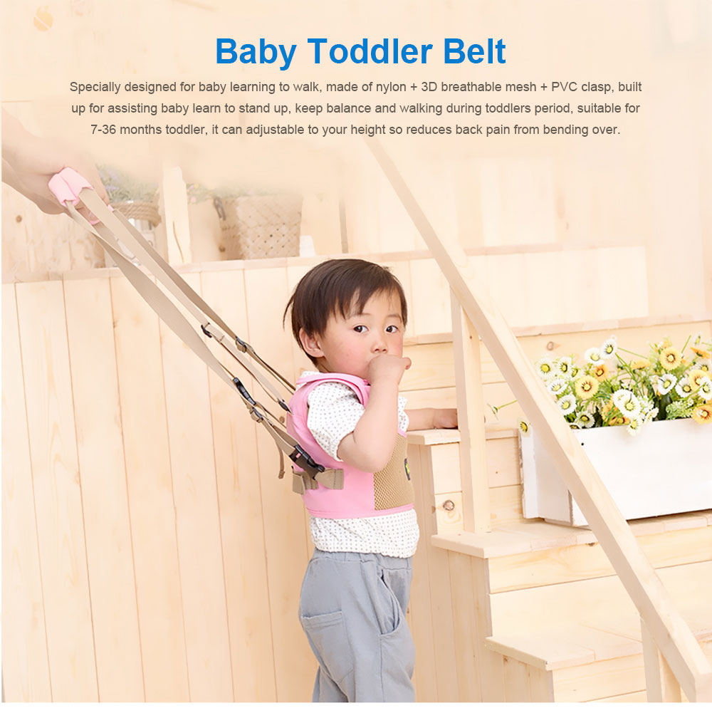 Waistcoat Baby Toddler Belt Walking Assistant, Multiple Functions Walk Learning Belt Kids Safety Breathable Walking Harness Walker Four Seasons Universal 0
