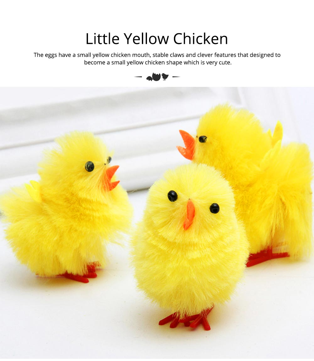 Fluffy Little Yellow Chicken with Lovely Eyes and Standing Posture, Easter Decorations, Children's Easter Gift 5