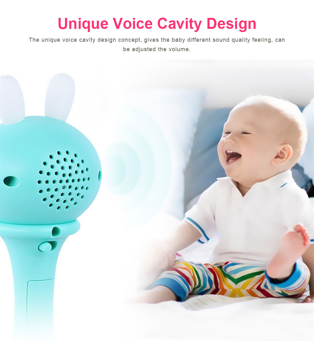 Baby Rattles Toys Early Educational Toys Bell Rattle, Safety Baby Toddler Hand Shake Bell Ring, Luminous Music Hand Bell 4