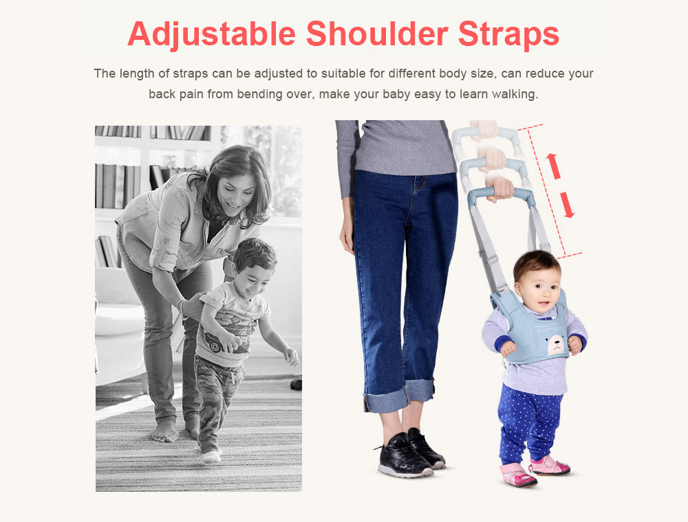 Anti-tumble Baby Toddler Belt Walking Assistant, Walk Learning Belt for Kids Safety Breathable Walking Harness Walker Four Seasons Universal 6