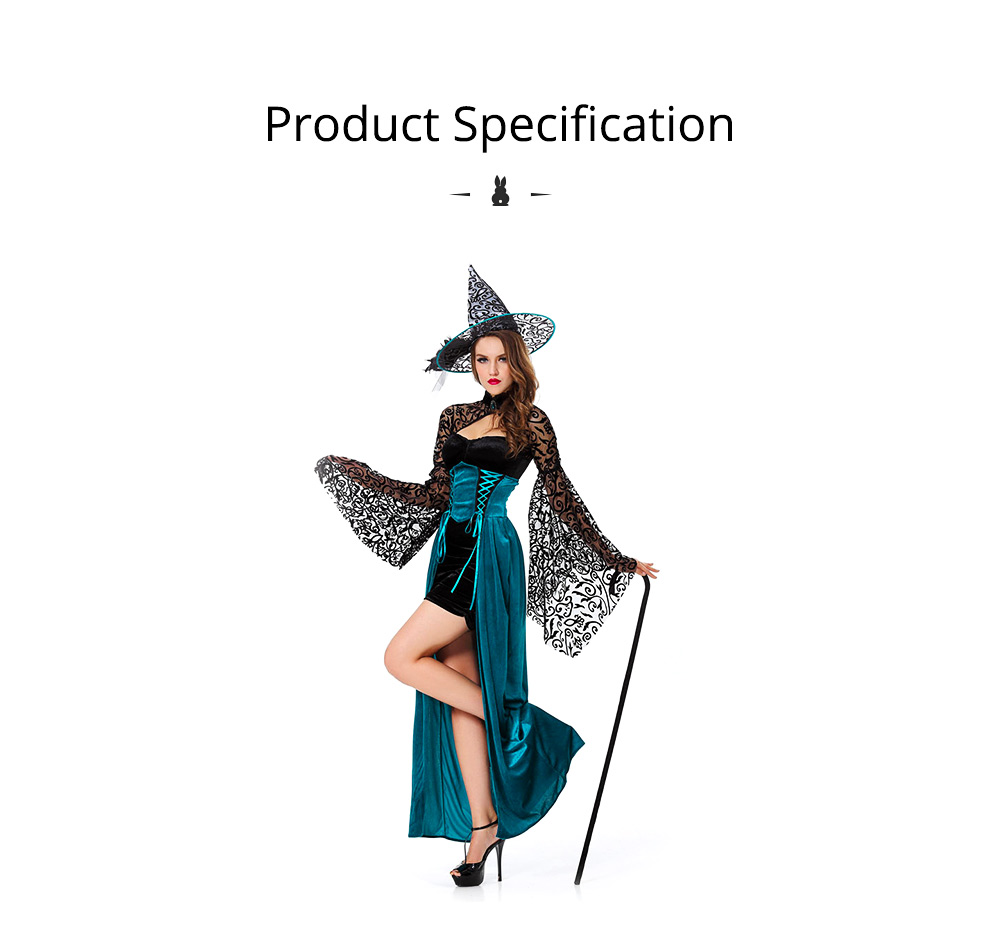 Easter Halloween Costume for Female, Women Sexy Dress Easter Dress Witch Costume Role-playing Game Uniform Dress Suit 6