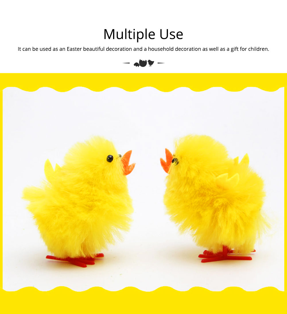 Fluffy Little Yellow Chicken with Lovely Eyes and Standing Posture, Easter Decorations, Children's Easter Gift 1
