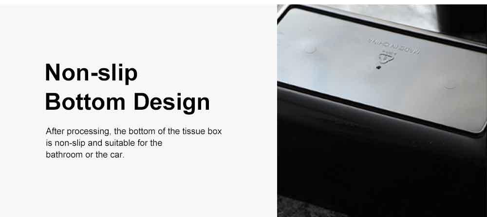 Tissue Box Wooden Cover Mobile Phone Holder, Makeup Cotton Box, On-board Black Tissue Box for Living Room, Desktop Napkin Box 5