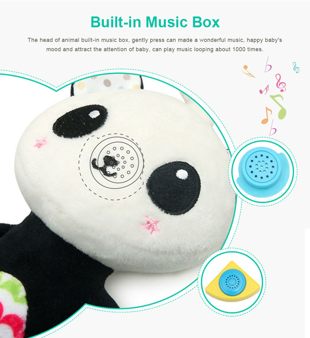 Baby Animals Pendant Plush Musical Toys, Infant Baby Rattle Hanging Toys for Stroller, Child Bed 3