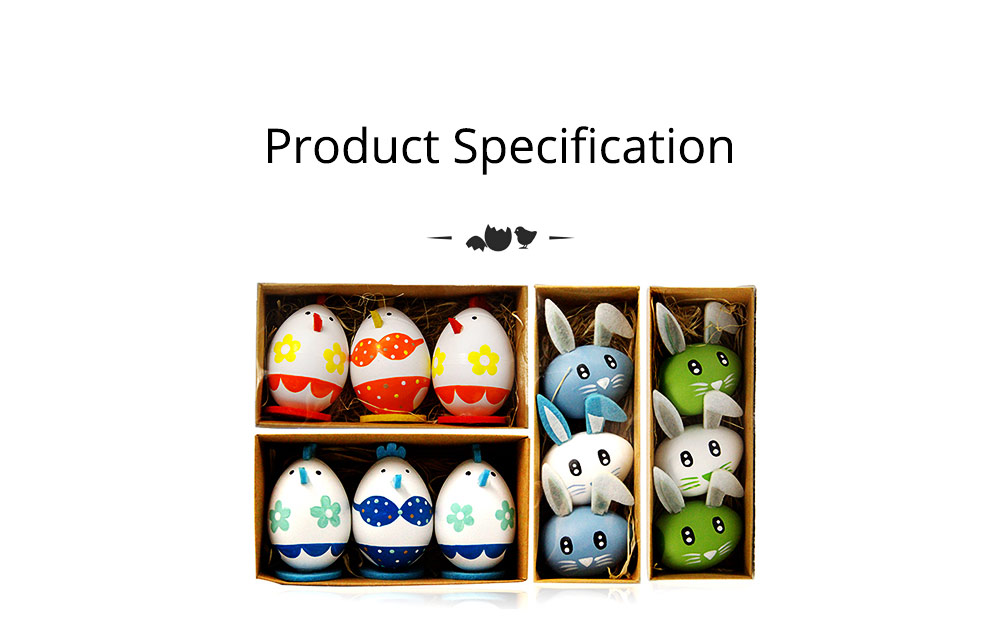 Lovely Easter Eggs, Painted Rabbit Plastic Eggs with Delicate Features, Stable Base, Cute Little Tail, Gifts for Children 11