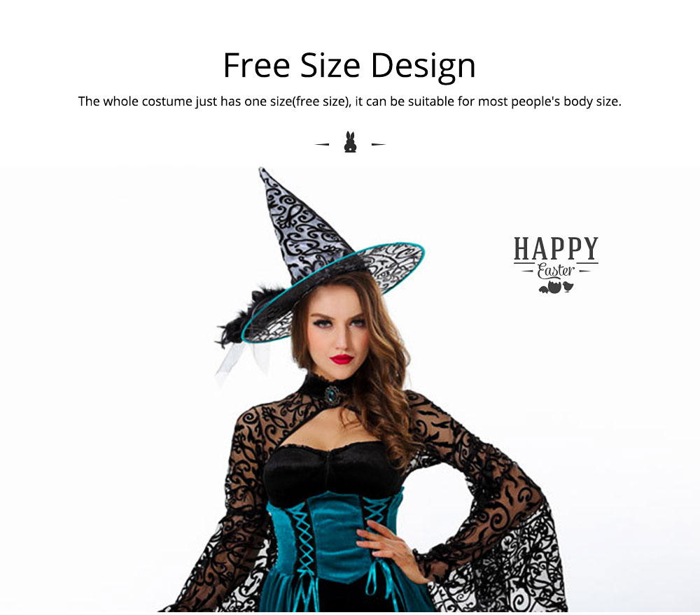 Easter Halloween Costume for Female, Women Sexy Dress Easter Dress Witch Costume Role-playing Game Uniform Dress Suit 2