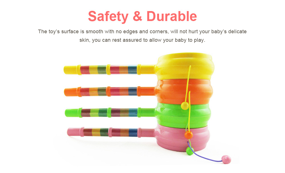 Baby Cartoon Shaking Rattle Ring Bell Drum Toys, Hand Shake Bell Funny Educational Toys 4