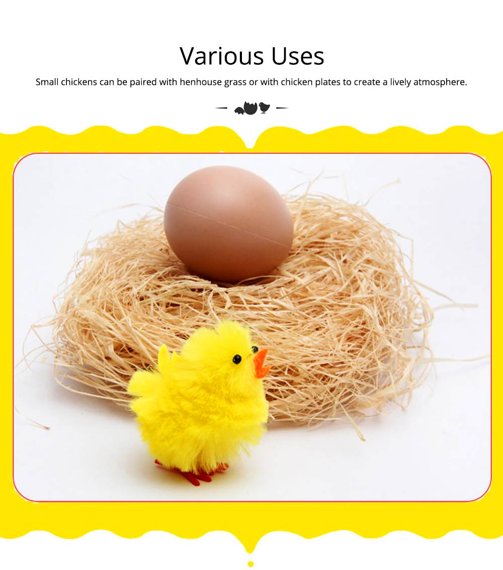 Fluffy Little Yellow Chicken with Lovely Eyes and Standing Posture, Easter Decorations, Children's Easter Gift 6