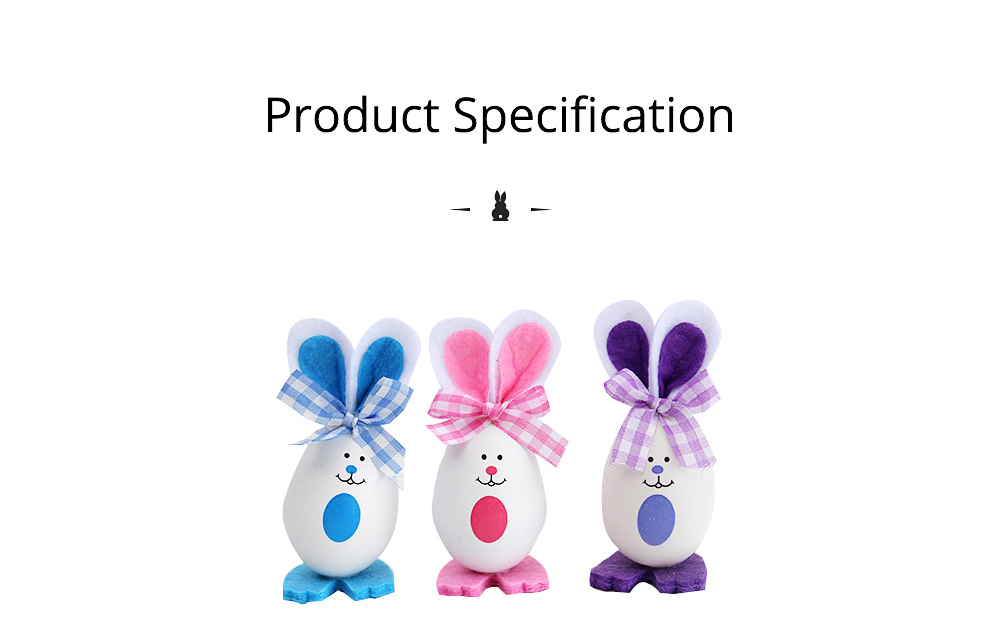 Plastic Easter Bunny Eggs with Delicate Bow and Lovely Face, Pendant and Gift for Children 8