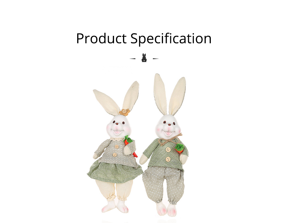 Resin Rabbit Doll Ornaments, Easter Bunny Ornaments Creative Gift for Birthday Wedding Household Decoration 10