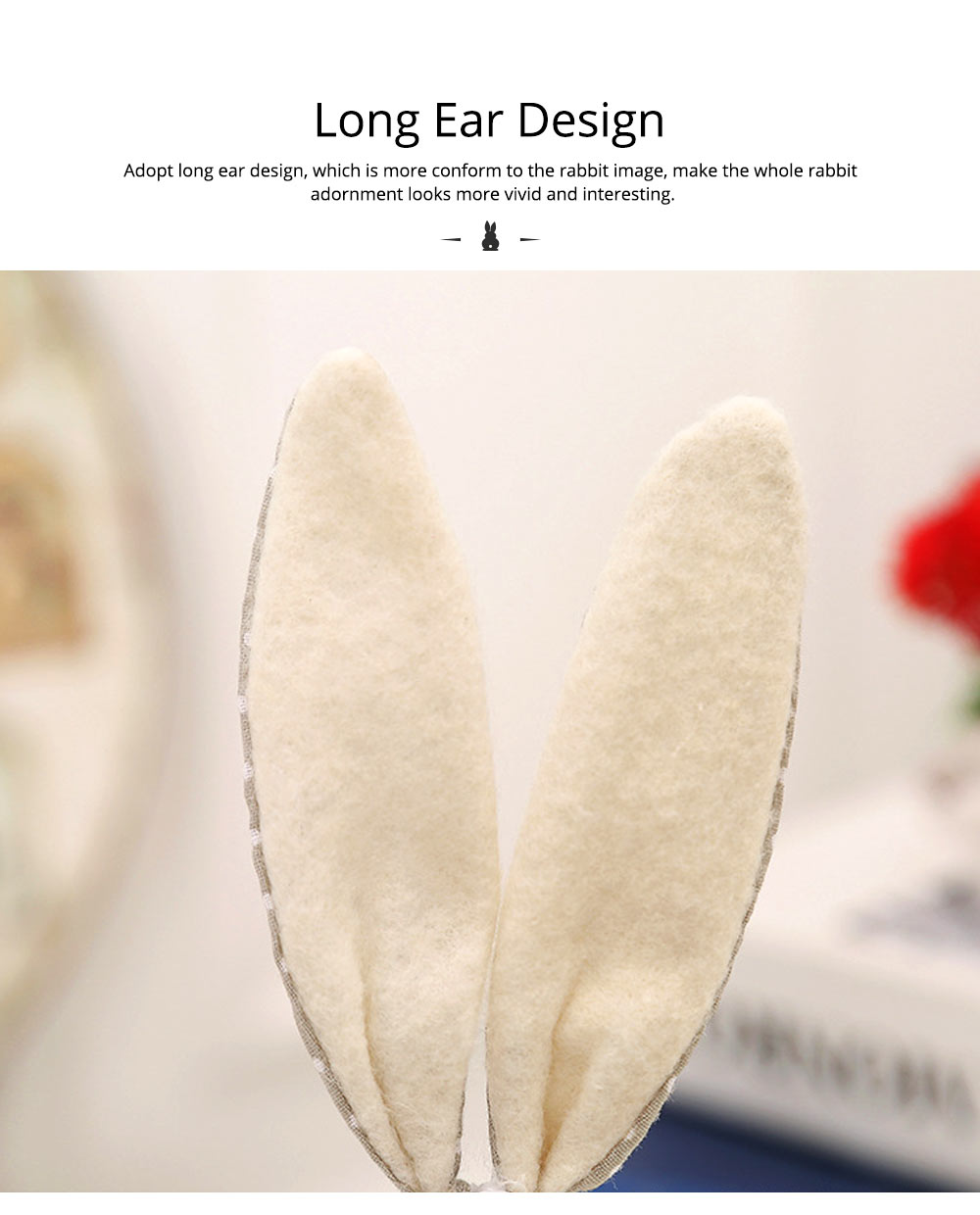 Resin Rabbit Doll Ornaments, Easter Bunny Ornaments Creative Gift for Birthday Wedding Household Decoration 16