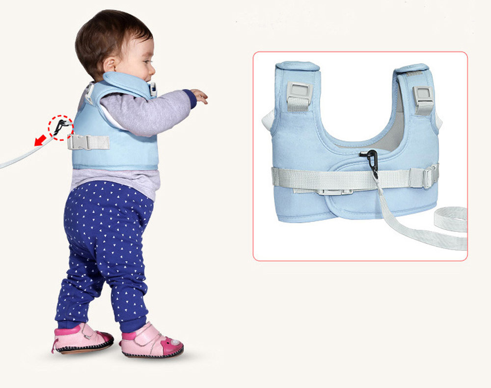 Anti-tumble Baby Toddler Belt Walking Assistant, Walk Learning Belt for Kids Safety Breathable Walking Harness Walker Four Seasons Universal 10
