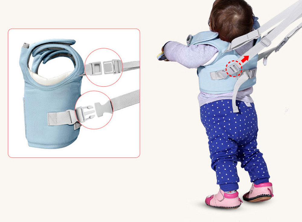 Anti-tumble Baby Toddler Belt Walking Assistant, Walk Learning Belt for Kids Safety Breathable Walking Harness Walker Four Seasons Universal 9