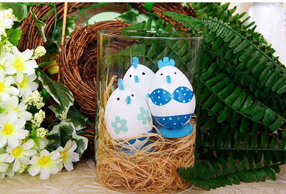 Lovely Easter Eggs, Painted Rabbit Plastic Eggs with Delicate Features, Stable Base, Cute Little Tail, Gifts for Children 13