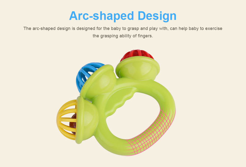 3 Big Bells Baby Early Education Toy, Hand Shake Bell Ring Baby Rattles Toys, Newborn Toddler Rattle Toys 3