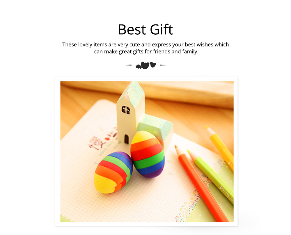 Fun Easter Gifts For Toddlers - Flexible Colored Eraser with Eggs Design, 2PCS 12