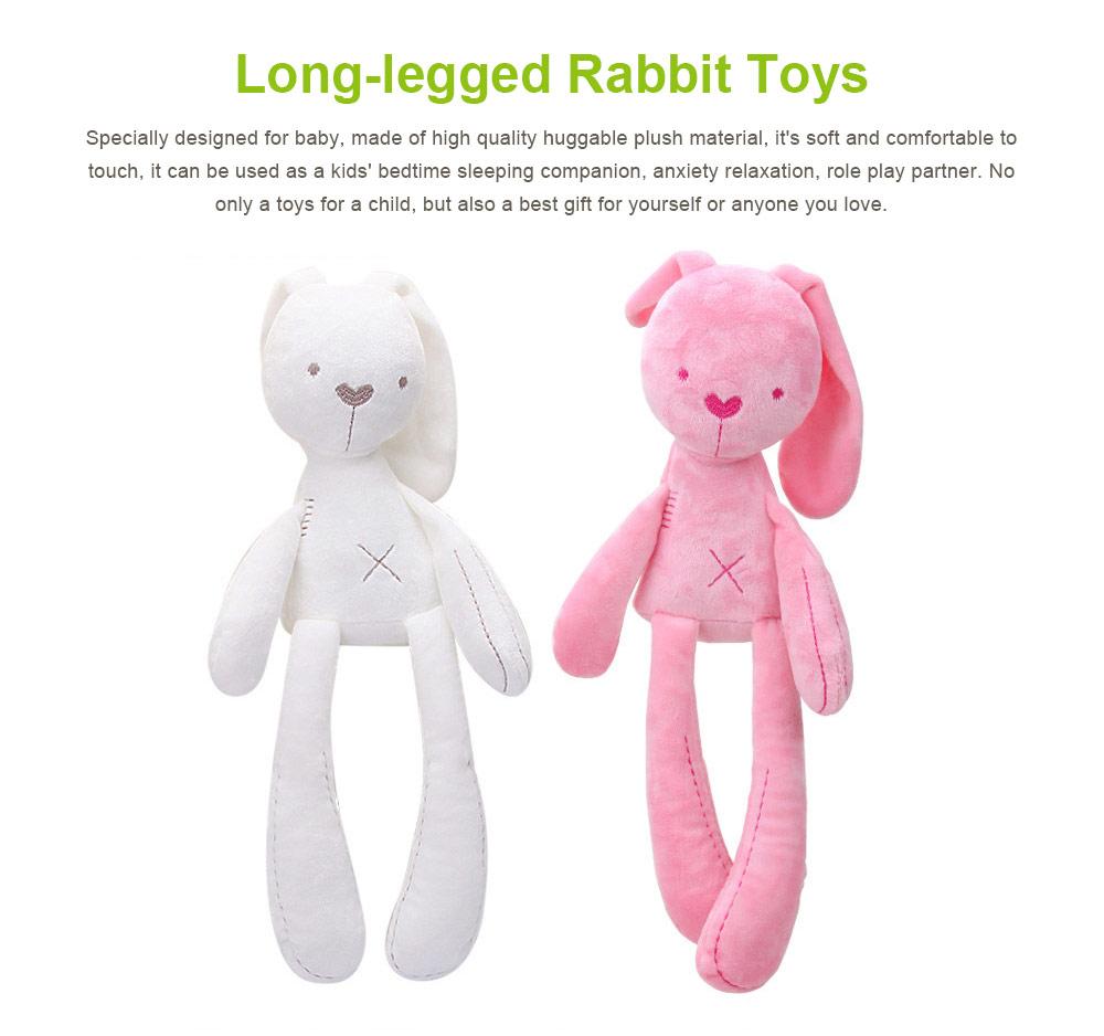 Long-legged Rabbit Sleeping Toys, Lovely Infant Baby Doll Bunny Toy for Kids 0