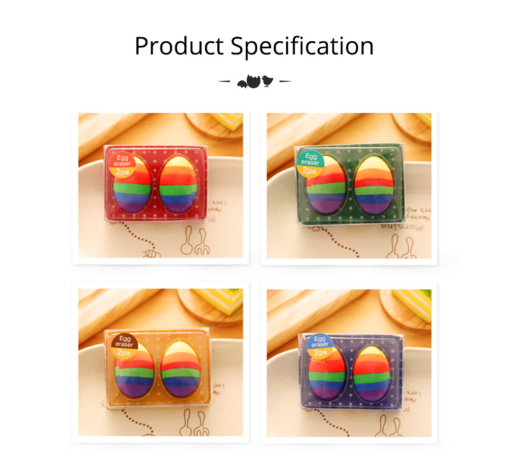 Fun Easter Gifts For Toddlers - Flexible Colored Eraser with Eggs Design, 2PCS 14