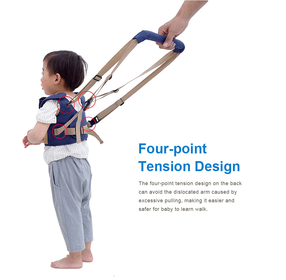 Waistcoat Baby Toddler Belt Walking Assistant, Multiple Functions Walk Learning Belt Kids Safety Breathable Walking Harness Walker Four Seasons Universal 7