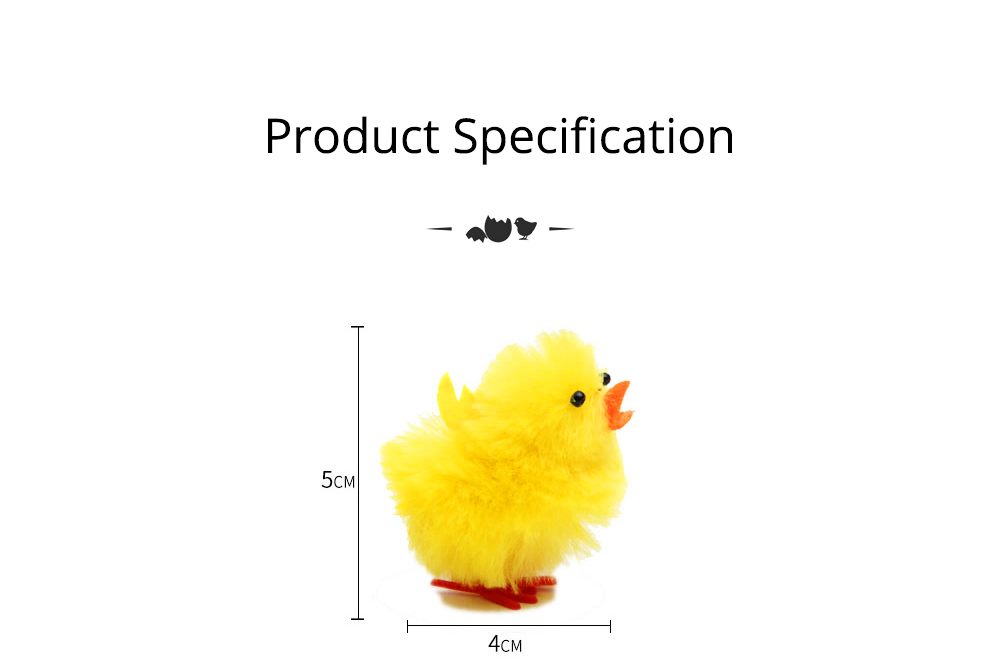 Fluffy Little Yellow Chicken with Lovely Eyes and Standing Posture, Easter Decorations, Children's Easter Gift 8