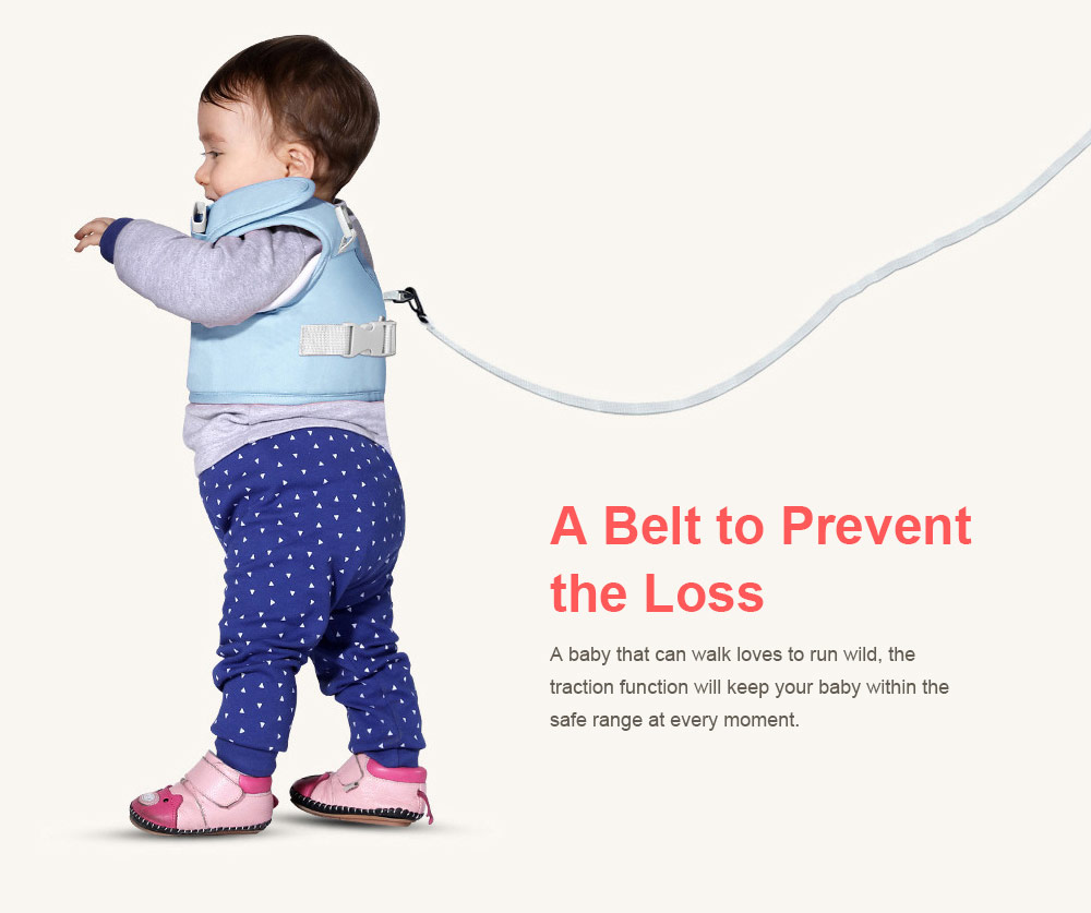 Anti-tumble Baby Toddler Belt Walking Assistant, Walk Learning Belt for Kids Safety Breathable Walking Harness Walker Four Seasons Universal 3
