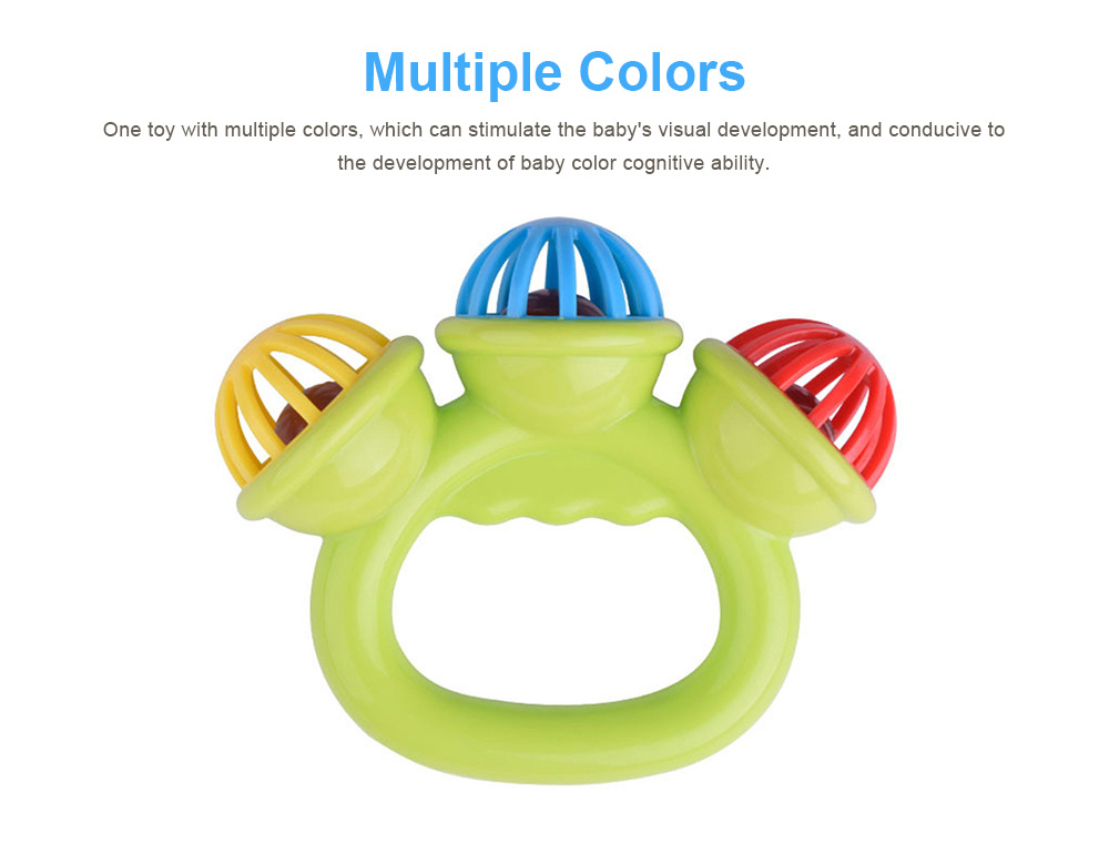 3 Big Bells Baby Early Education Toy, Hand Shake Bell Ring Baby Rattles Toys, Newborn Toddler Rattle Toys 4