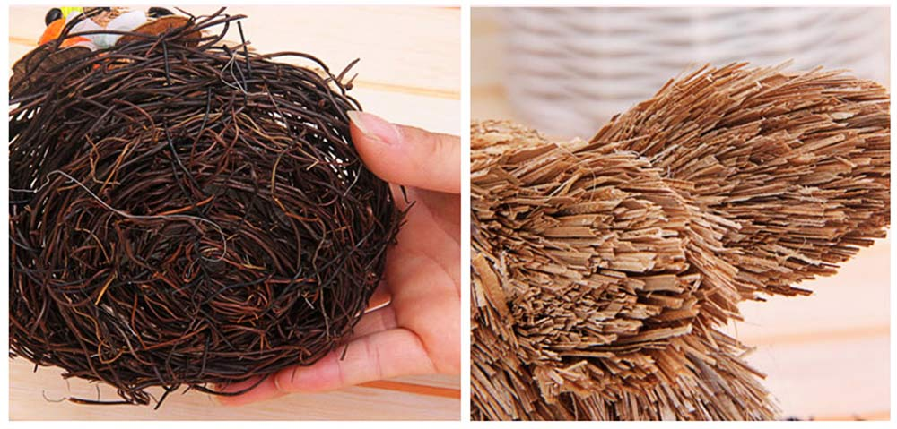Easter Decorations - Hand-made Straw Bunny with Thorns Nest and Carrots, Mall and Shop Pendant 3