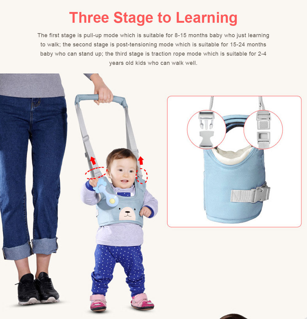 Anti-tumble Baby Toddler Belt Walking Assistant, Walk Learning Belt for Kids Safety Breathable Walking Harness Walker Four Seasons Universal 8