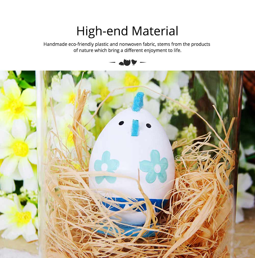 Lovely Easter Eggs, Painted Rabbit Plastic Eggs with Delicate Features, Stable Base, Cute Little Tail, Gifts for Children 7
