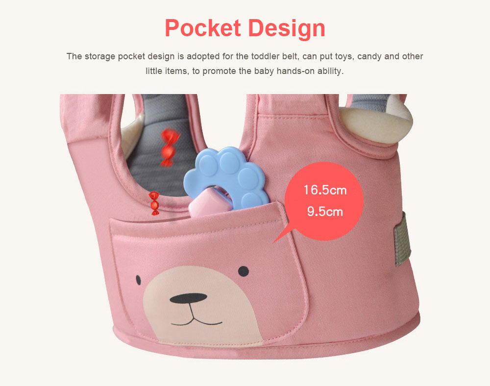 Anti-tumble Baby Toddler Belt Walking Assistant, Walk Learning Belt for Kids Safety Breathable Walking Harness Walker Four Seasons Universal 4