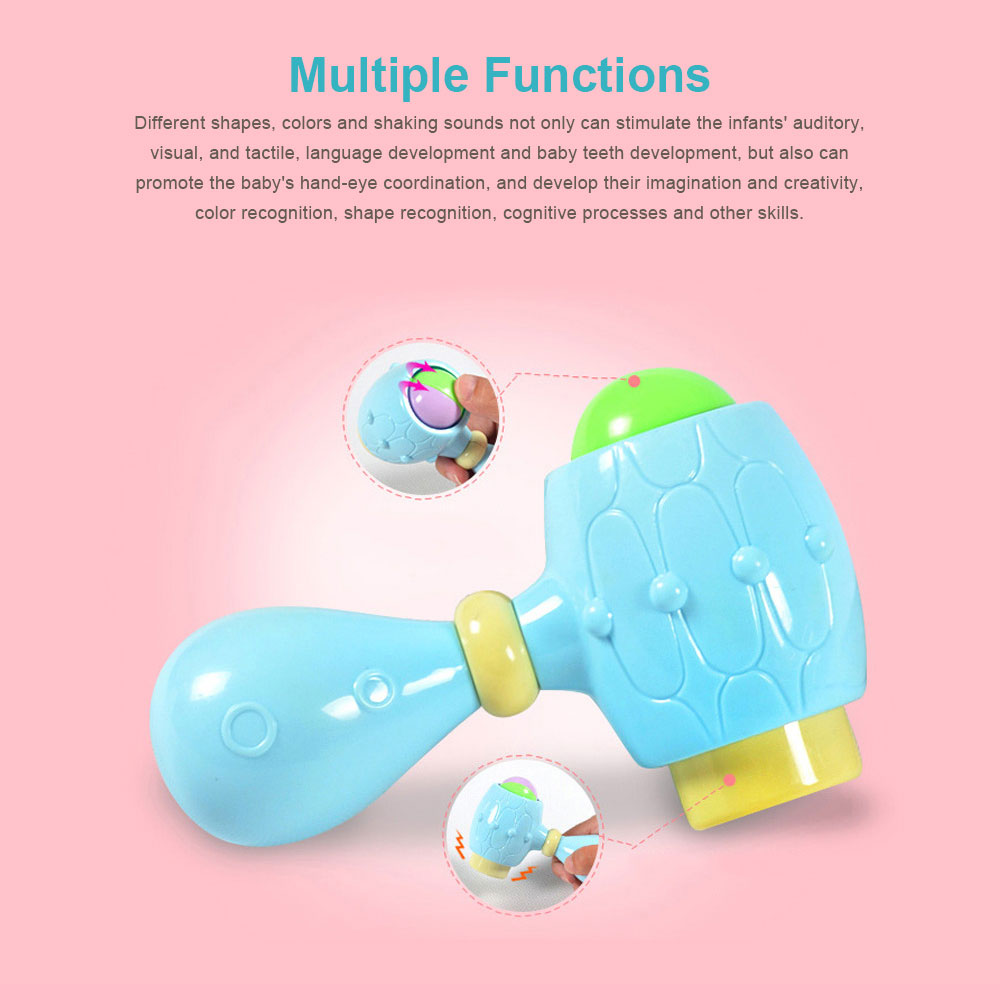 Baby Rattles Teether Toy Spin Rattle, Early Educational Toys Bell Rattle Set for 0-24 Months Baby Infant, 6 PCS 2