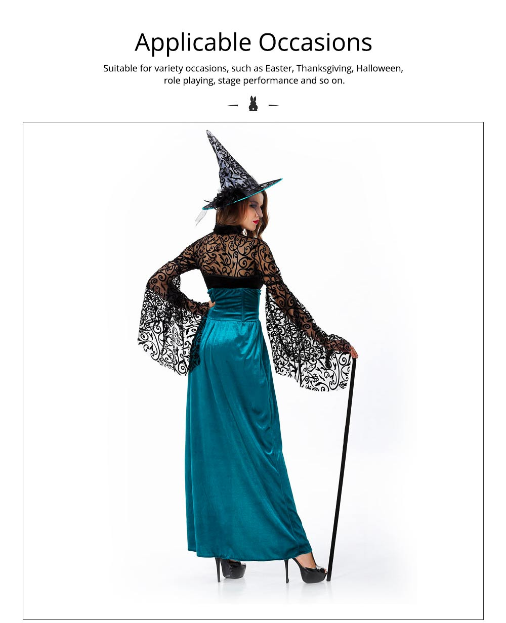 Easter Halloween Costume for Female, Women Sexy Dress Easter Dress Witch Costume Role-playing Game Uniform Dress Suit 4